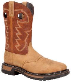 Rocky Men's Original Ride Steel Toe Waterproof Western Boots, , hi-res