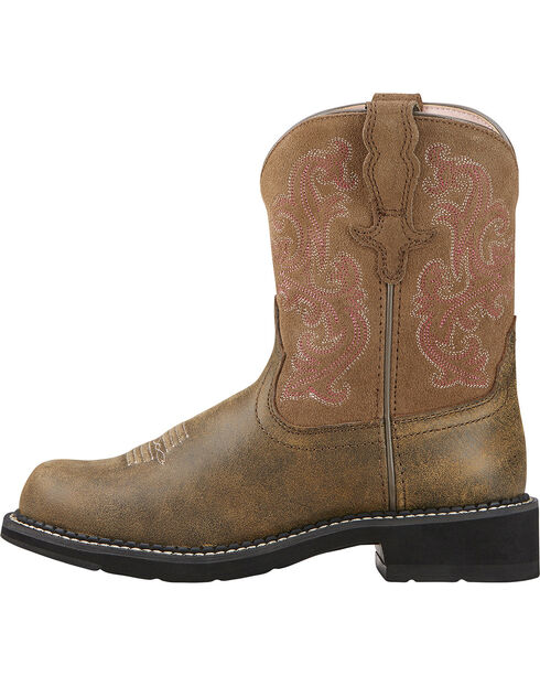Ariat Fatbaby Brown Bomber Leather Boots - Crepe Sole | Sheplers