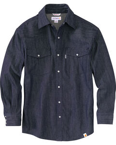 Carhartt Men's Ironwood Denim Work Shirt, , hi-res