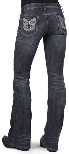 Stetson Women's 816 Metallic Stitch Bootcut Jeans, , hi-res