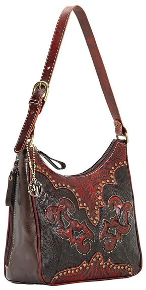 American West Annie's Secret Collection Concealed Carry Shoulder Bag, Black, hi-res