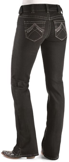 Ariat Real Denim Black Bootcut Riding Jeans, Blk Denim, hi-res