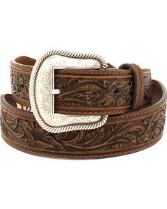 Nocona Men's Scalloped Rawhide Leather Belt , , hi-res
