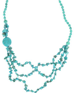 Shyanne® Women's Turquoise Beaded Necklace, Turquoise, hi-res