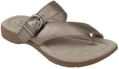 Eastland Women's SIlver Tahiti II Thong Sandals  , , hi-res