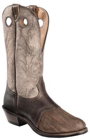 Boulet Buckaroo Saddle Cowboy Boots - Round Toe, Chestnut, hi-res
