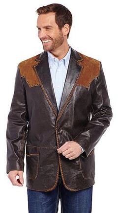 Cripple Creek Suede and Stitched Yoke Western Blazer, , hi-res