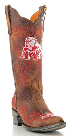 Gameday Mississippi State University Cowgirl Boots - Pointed Toe, , hi-res