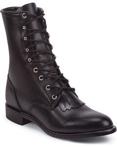 Justin® Original Lacer Cowboy Boots - Round Toe, , hi-res