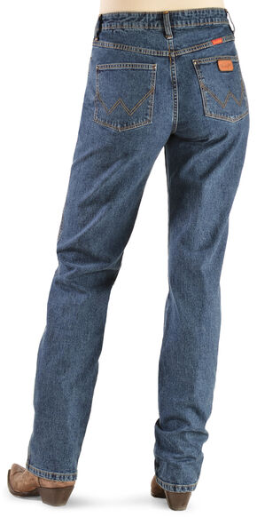 Wrangler Women's Cowboy Cut Natural Rise Jeans - Tapered Leg, Stonewash, hi-res