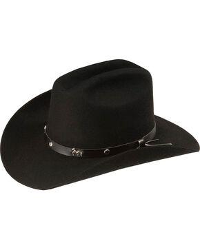 Bullhide Kids' Paso Wool Felt Cowboy Hat, Black, hi-res