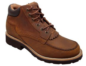 Twisted X Chuck Up Lace-Up Casual Shoes - Round Toe, Oiled Rust, hi-res
