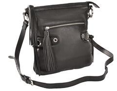 Scully Black Leather Shoulder Bag, , hi-res