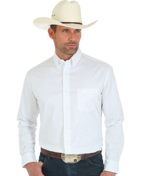 Wrangler 20X Advanced Comfort Men's White Button Shirt, White, hi-res