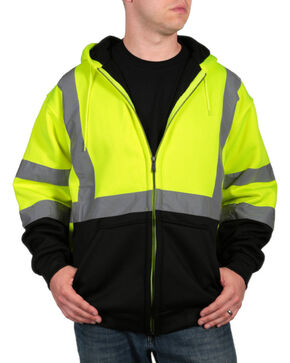 American Worker Men's High Visibility Safety Jacket - Big & Tall, Yellow, hi-res