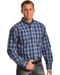 Gibson Trading Co. Men's Black & Blue Check Western Shirt, , hi-res