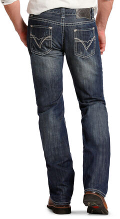 "Rock and Roll Cowboy Pistol Regular Fit ""V"" Jeans - Straight Leg  , , hi-res"