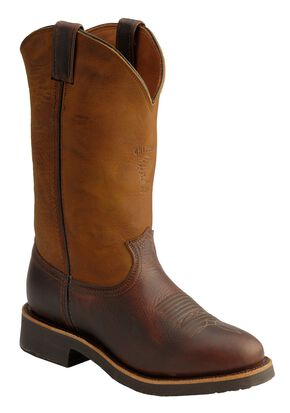 Chippewa Crazy Horse Pitstop Pull-On Work Boots - Round Toe, Briar, hi-res