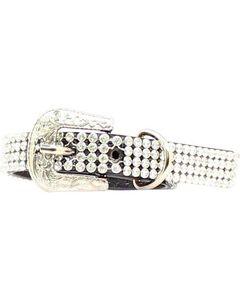 Blazin Roxx Rhinestone Mesh Dog Collar - XS/S, , hi-res
