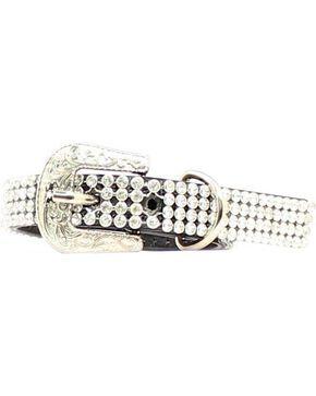 Blazin Roxx Rhinestone Mesh Dog Collar - XS/S, Crystal, hi-res