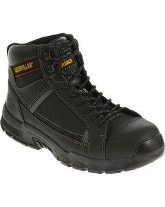Caterpillar Men's Black Regulator Work Boots - Steel Toe , , hi-res