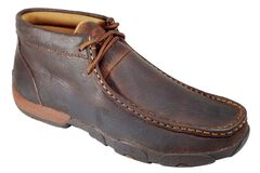 Twisted X Driving Lace-Up Moccasins - Round Toe, , hi-res