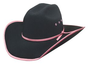 Bullhide Leave Your Mark Colorful Brim Kids' Cowboy Hat, Pink, hi-res