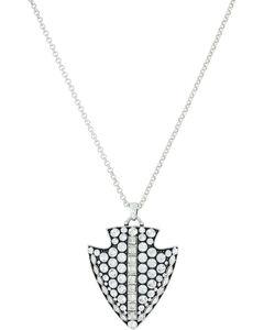 Montana Silversmiths Women's Silver Glam Arrowhead Necklace , , hi-res