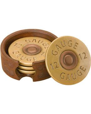 Big Sky Carvers Shotgun Shell Coaster Set, Gold, hi-res