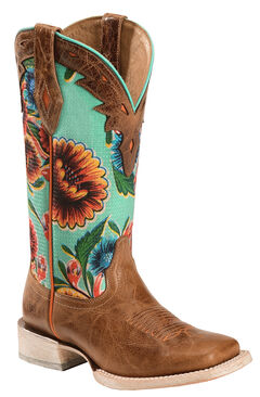 Ariat Floral Textile Circuit Champion Cowgirl Boots - Square Toe, , hi-res