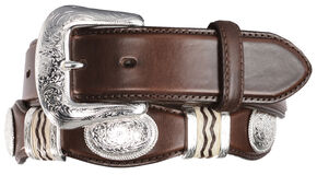 Tony Lama Cutting Champ Western Belt, Brown, hi-res