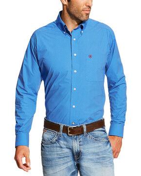 Ariat Men's Blue Allen Print Shirt, Blue, hi-res