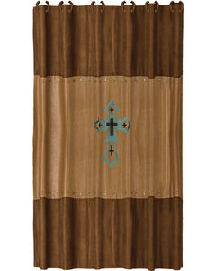 HiEnd Accents Las Cruces Embroidered  Shower Curtain, , hi-res