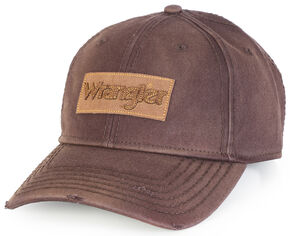 Wrangler Logo Patch Cap, Brown, hi-res