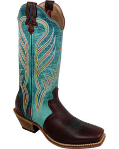 Twisted X Turquoise Steppin' Out Cowgirl Boots - Square Toe, , hi-res