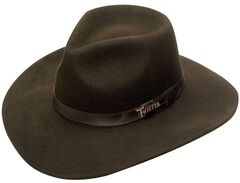Twister Crushable Indy Hat, Brown, hi-res