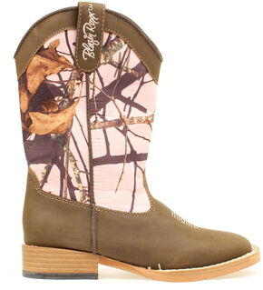 Blazin Roxx Girls' Youth Briar Pink Mossy Oak Boots - Round Toe, Brown, hi-res