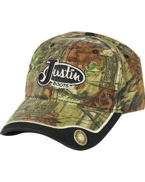 Justin Men's Mossy Oak 12 Gauge Ball Cap, Camouflage, hi-res