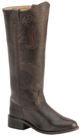 Old West Riding Boots - Round Toe, Chocolate, hi-res