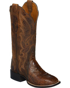 Lucchese Burnished Marissa Ostrich Leg Cowgirl Boots - Square Toe , , hi-res