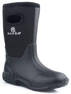 Roper Youth Boys' Black Neoprene Boots, , hi-res