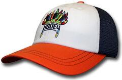 HOOey Women's Orange and Navy Nana Trucker Hat , , hi-res
