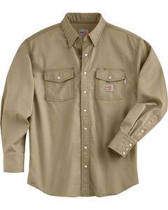 Carhartt Men's Flame Resistant Snap Front Shirt, , hi-res