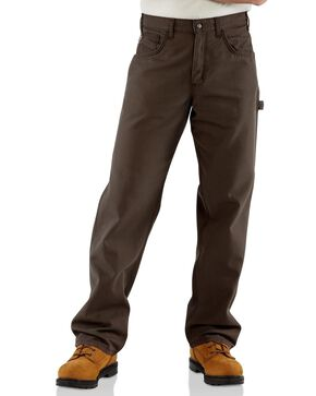 Carhartt Flame Resistant Canvas Work Pants - Big & Tall, Dark Brown, hi-res