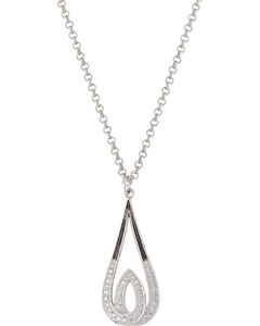 Montana Silversmiths Frost's Candlelight Necklace, Silver, hi-res