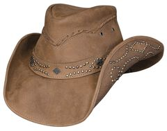 Bullhide Hidden Pleasure Leather Hat, , hi-res