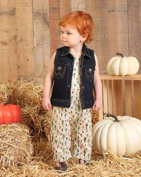 Wrangler Toddler Girls' Indigo Denim Vest , Indigo, hi-res
