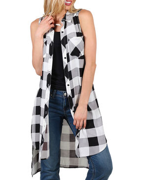 Cotton Express Women's Lace-Up Back Fashion Duster, White, hi-res
