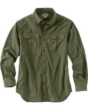 Carhartt Men's Foreman Long Sleeve Work Shirt - Big & Tall, Moss, hi-res