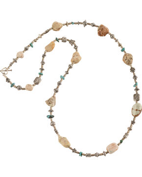 Julie Rose Genuine Turquoise Beaded Necklace, Natural, hi-res